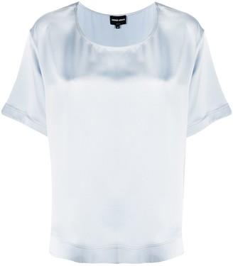 Giorgio Armani Short-Sleeved Silk Blouse