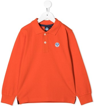 North Sails Kids Long Sleeve Cotton Polo Shirt