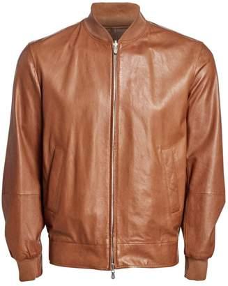 Brunello Cucinelli Reversible Nappa Leather Bomber Jacket