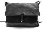 Topshop Leather Hobo Bag - Black