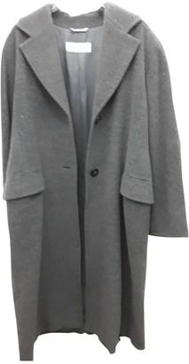 Max Mara Grey Wool Coat for Women