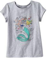 Disney Disney's The Little Mermaid Ariel & Flounder Girls 4-10 Glitter Graphic Tee by Jumping Beans®