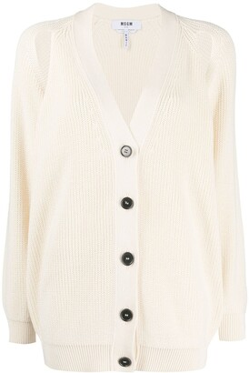 MSGM Open Sleeve Knitted Cardigan