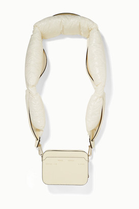 Valextra Moncler Genius - + 2 Moncler 1952 Dado Shell Down And Leather Shoulder Bag - Cream