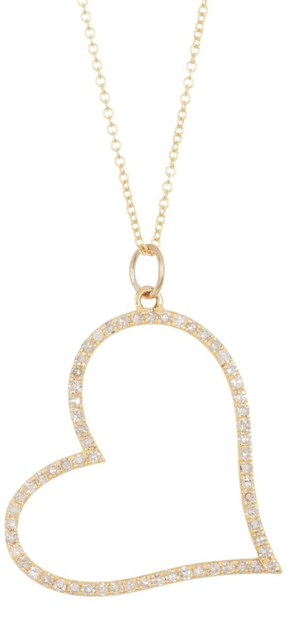 Ron Hami 14K Yellow Gold Diamond Open Heart Pendant Necklace - 0.47 ctw