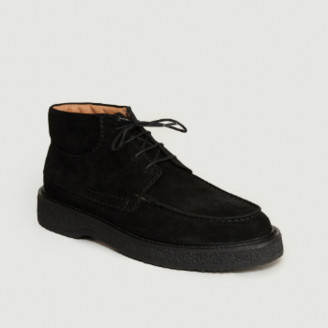 Zespà Black Suede Leather Boots - 36 | leather | black - Black/Black