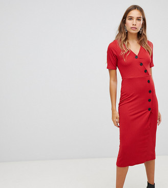 New Look Rib Button Through Dress