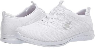 Skechers City Pro - Glow On (White/Silver) Women's Shoes