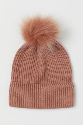 H&M Knit Wool-blend Hat - Orange
