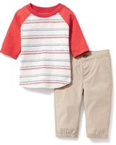 Old Navy 2-Piece Raglan Tee and Pant Set for Baby