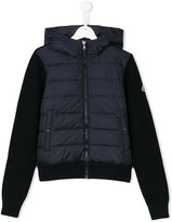Moncler padded front hooded jacket - kids - Feather Down/Acrylic/Polyamide/Wool - 14 yrs