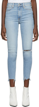 Rag & Bone Blue Nina High-Rise Ankle Skinny Jeans
