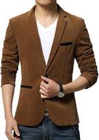 MRSMR Mens Corduroy Texture Slim Fit Simple Casual Wear Blazer Suit S