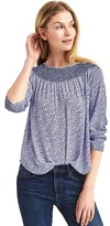 Gap Smock neck long sleeve blouse