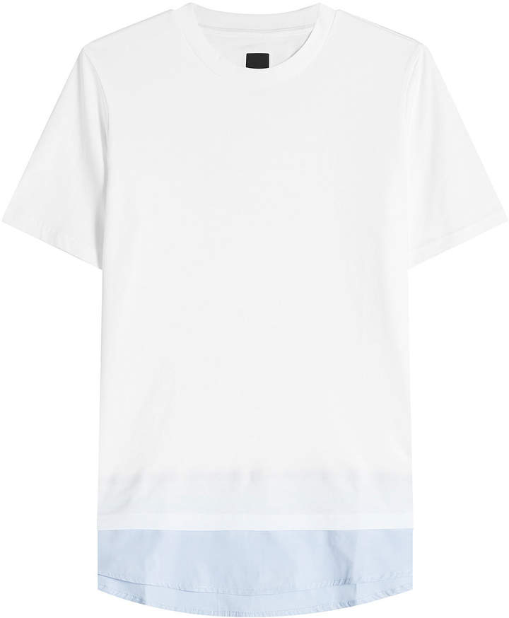 Oamc Cotton T-Shirt with Contrast Hem