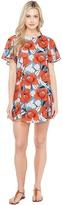Brigitte Bailey Loren Short Sleeve Dress with Open Back