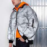 River Island Grey Blood Brother Camo Print Puffer Jacket