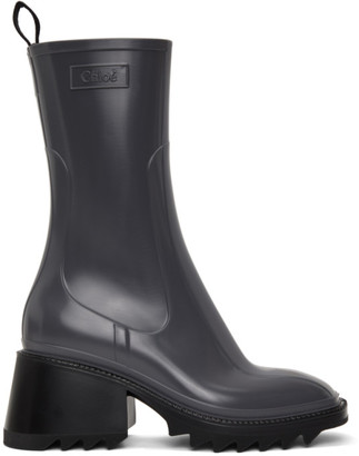 Chloé Grey Betty Rain Boots