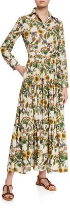 La DoubleJ Bellini Floral Print Shirtdress
