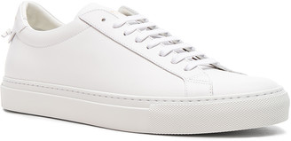 Givenchy Leather Urban Tie Knot Sneakers in White   FWRD