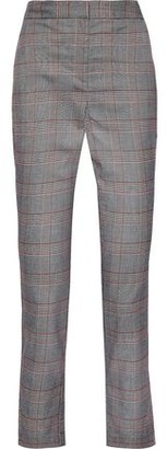 Walter Baker Delpia Cropped Prince Of Wales Checked Jacquard Slim-leg Pants