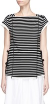 3.1 Phillip Lim Tie side stripe cotton T-shirt