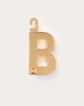 "Valentino Garavani Call Me b"" Charm Women Gold Brass 100% OneSize"