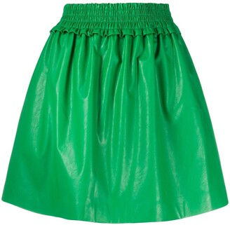 MSGM Pleated Flared Skirt
