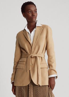 Ralph Lauren Belted Wool Blazer