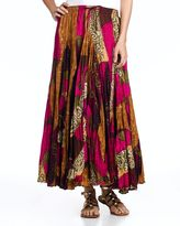 Chelsea & theodore tropical-print long skirt