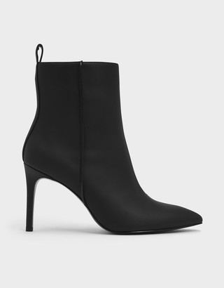 Charles & Keith Pointed Toe Stiletto Heel Calf Boots