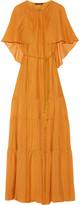 Rachel Zoe Melina cape-effect silk-chiffon maxi dress