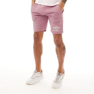 Umbro Mens Active Style Jog Shorts Dusty Pink/White