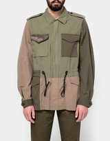 3.1 Phillip Lim Mixed Canvas Patchwork Field Jacket