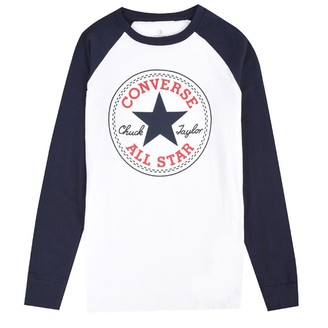 Converse Junior Boys Chuck Patch Long Sleeve Raglan Top White