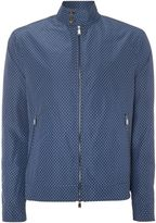 Michael Kors Showerproof Diamond Print Zip Up Harrington Jacke