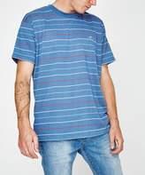 Wrangler Cohen Stripe Storm Blue
