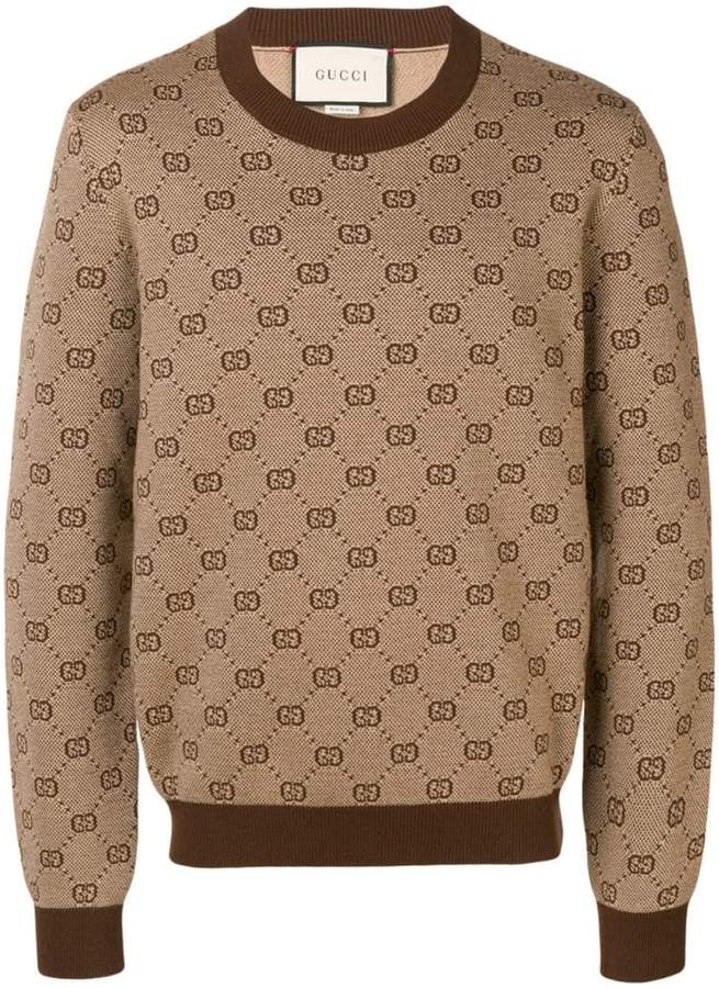 7328c2225e5 Gucci Brown Men's Sweaters - ShopStyle