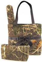 scarlettsbags Soft Velvety Camo Diaper Bag Tote Purse 3 Piece Set w/ Changing Pad Camouflage