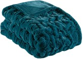 Madison Home USA Ruched Faux Fur Throw