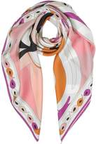Emilio Pucci Optical Print Twill Silk Square Scarf
