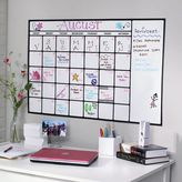 Dry-Erase Calendar Decal, White
