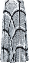 MSGM keffiyeh print pleated skirt - women - Polyester - 40
