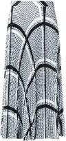 MSGM keffiyeh print pleated skirt - women - Polyester - 44