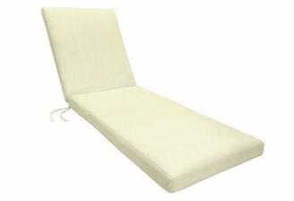 """Eddie Bauer Sunbrella Chaise Lounge Cushion Fabric: Canvas Natural, Size: 2.5"""" H x 23"""" W x 75"""" D"""
