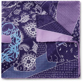 Turnbull & Asser - English Bulldog Printed Silk-twill Pocket Square