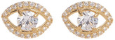 Candela 14K Yellow Gold CZ Evil Eye Stud Earrings