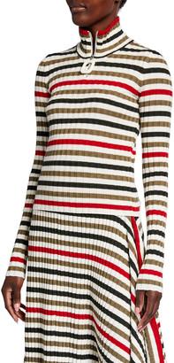 J.W.Anderson JWA Puller Striped Wool Henley Top