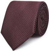 Reiss Ida - Silk Houndstooth Tie in Red, Mens