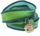 Catherine Michiels We Are One Bronze Charm & Silk Bracelet Wrap